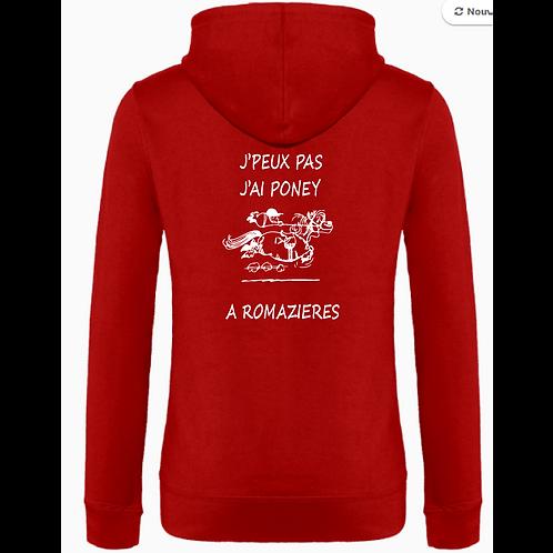 "SWEAT CAPUCHE ZIP FEMME ""Jpp Romazières"""