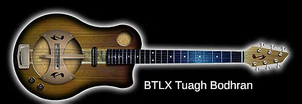 BTLX Tuagh Series Electric with Bodhran Drumskin