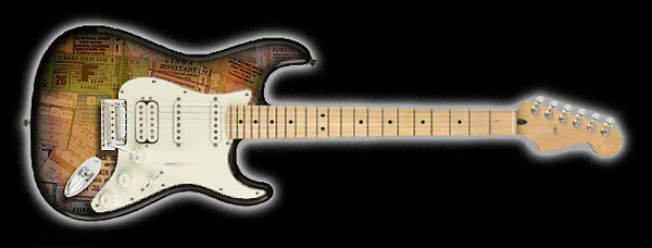 Stratocaster with Decoupage Finish