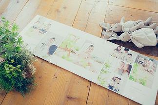 たくさんの写真ででつくる3面台紙