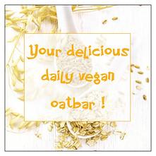 Your delicious daily vegan oatbar