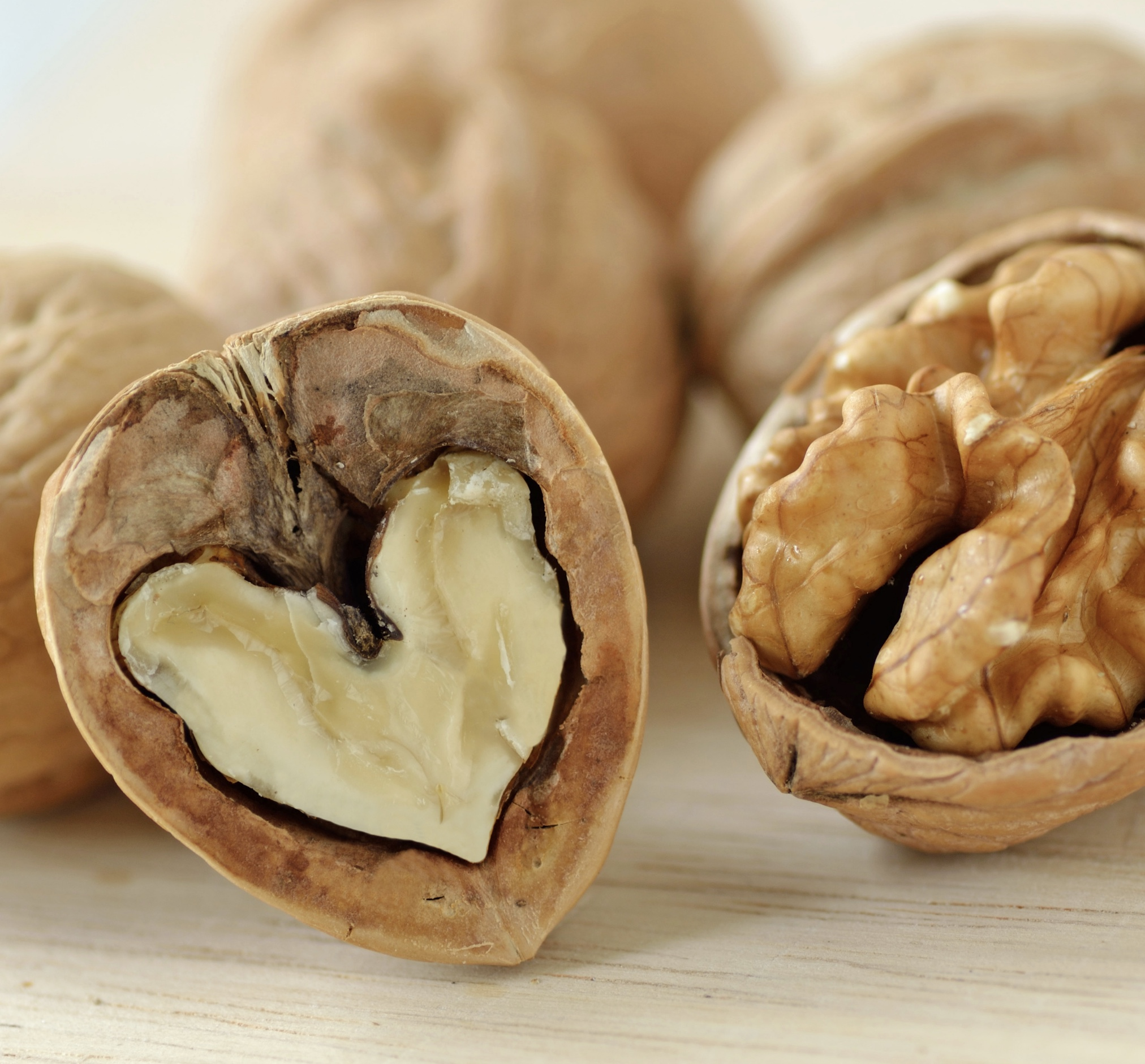 Unroasted and unsalted walnuts