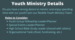 Youth Ministry team details