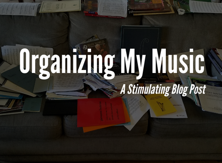 Organizing My Music