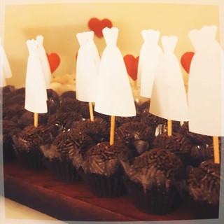 Tags para doces vestido de noiva