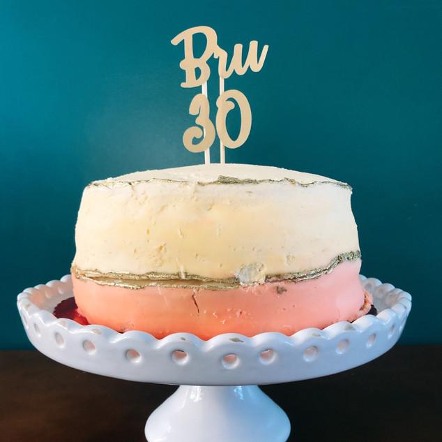 Tag personalizada para bolo