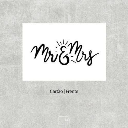 Cartão Mr & Mrs