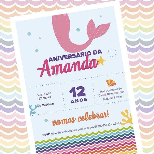 Convite Festa Sereia | Digital
