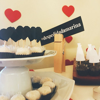 Toppers para doces + hashtag