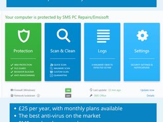 SMS and Emsisoft: award-winning anti-virus protection