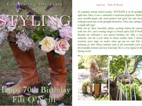 FIFI O'NEILL - CELEBRATING 30 CREATIVE YEARS AS A STYLIST