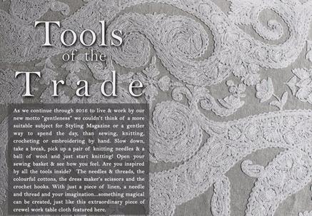 TEXTILES & FABRICS - TOOLS OF THE TRADE