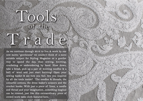TEXTILES & FABRICS - TOOLS OF THE TRADE