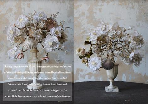 Vintage Flowers & Shells