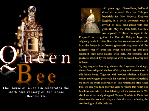 THE HOUSE OF GUERLAIN - 160TH ANNIVERSARY OF THE 'BEE' BOTTLE