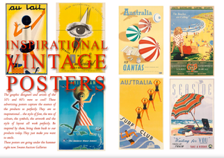 STYLING WITH VINTAGE POSTERS - INSPIRATION FROM THE 50'S & 60'S