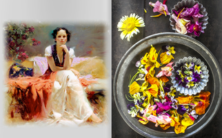 EDIBLE FLOWERS - A CREATIVE & COLOURFUL MIX - ARTIST PINO & STYLING MAGAZINE FOOD STYLIST, S