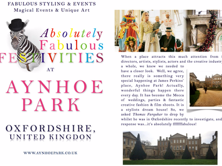 AYNHOE PARK - OXFORDSHIRE, UK - ABSOLUTELY FABULOUS STYLED FESTIVITIES