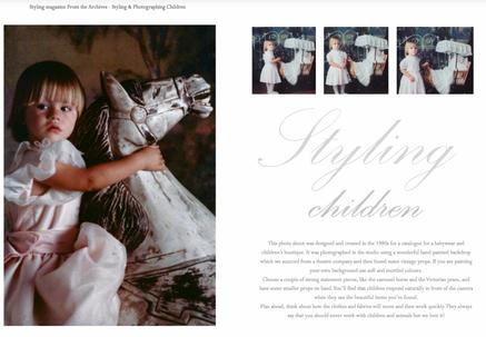 Styling with Children -  Coty Farquhar Portfolio 1986