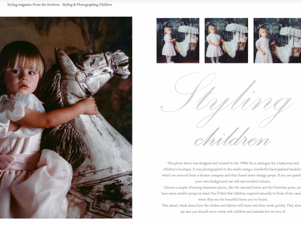 Styling with Children -  Coty Farquhar Portfolio 1986