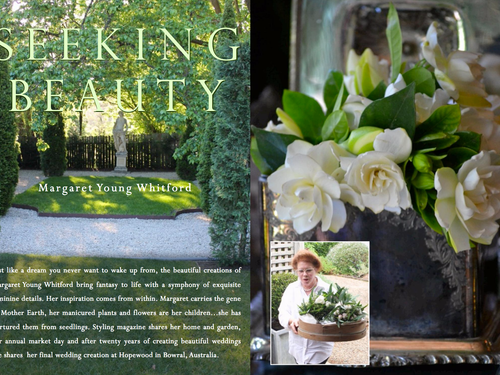 MARGARET YOUNG WHITFORD - SEEKING BEAUTY...  BEAUTIFUL HOME & GARDEN IN THE SOUTHERN HIGHLANDS O