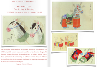 INSPIRATION FOR STYLING & DISPLAY - THE NINNY-DO BUNKO DATABASE, JAPAN -  HAS 100'S OF ALBUM