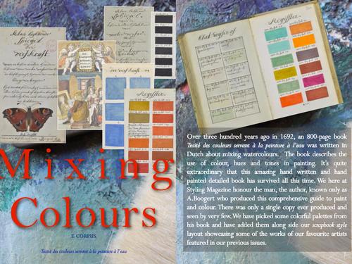 MIXING COLOURS - Traité des couleurs servant à la peinture a l'eau - 800 page book on mixing pai