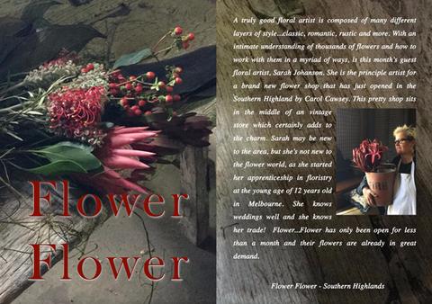 FLOWER FLOWER...ARTIST SARAH JOHANSON