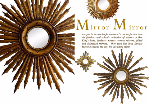 MIRROR MIRROR... SUNBURST MIRRORS
