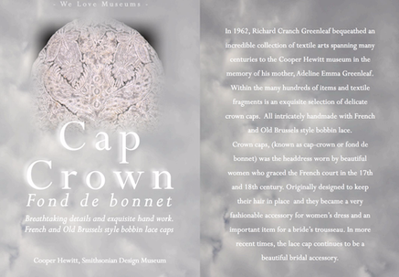 FOND DE BONNET - THE CAP CROWN - BREATHTAKING DETAILS AND EXQUISITE HAND WORK. FRENCH AND OLD BRUSSE