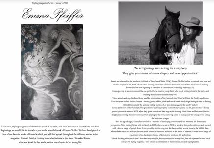 Artist of the Issue - Emma Pfeiffer