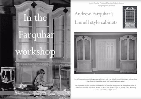 Farquhars Furniture Workshop, The Southern Highlands of NSW