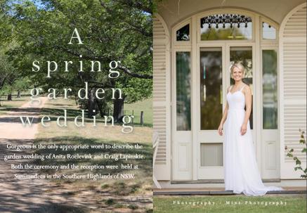 SUMMERLEES, SUTTON FOREST - THE GORGEOUS WEDDING   OF ANITA ROELEVINK & CRAIG LAPINSKIE