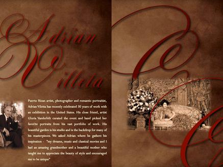 ADRIAN VILLETA - PUERTO RICAN ARTIST, PHOTOGRAPHER AND ROMANTIC PORTRAITIST HAS RECENTLY CELEBRATED