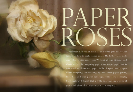 STYLING MAGAZINE - PAPER ROSES...