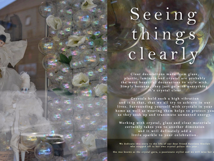 SEEING THINGS CLEARLY - STYLING WITH GLASS, CRYSTAL, LAMINATE & PLASTIC DECORATIONS,