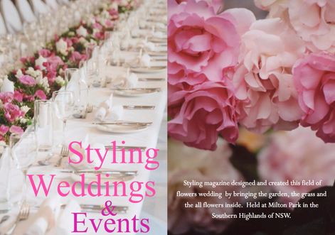 STYLING WEDDINGS & EVENTS - MILTON PARK - A FIELD OF FLOWERS