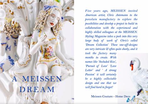 A MEISSEN DREAM - ARTIST CHRIS ANTEMANN
