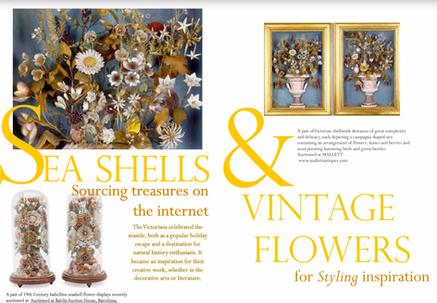 Sea Shells & Vintage Flowers