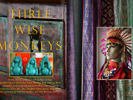Three Wise Monkeys - Artist - Jennifer Turner
