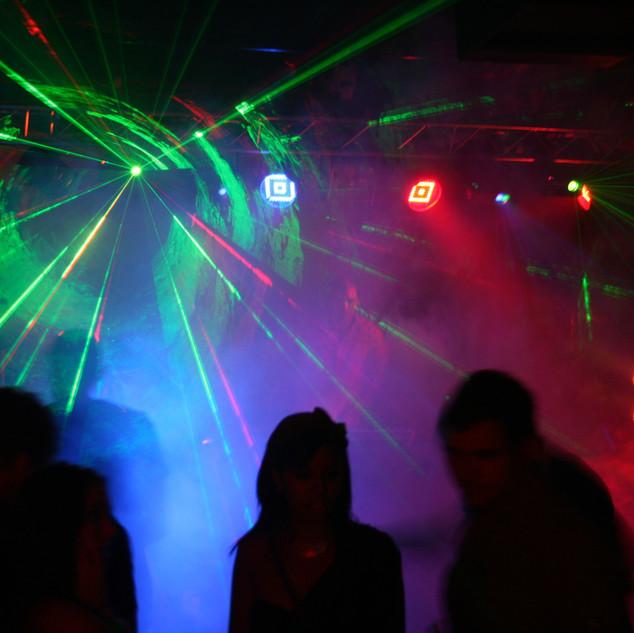 Lazer light with fog machine