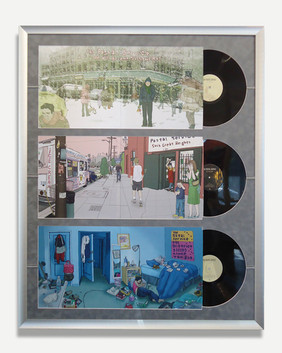 Postal Service - Framed Album Covers