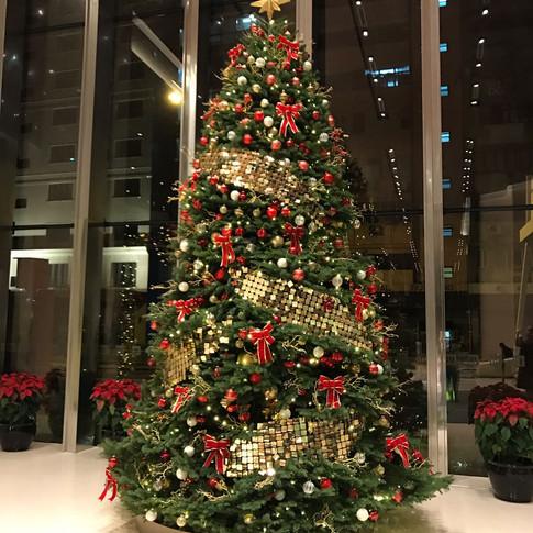 Manulife life tower Christmas
