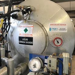 Carbon Dioxide Storage Vessel Installation