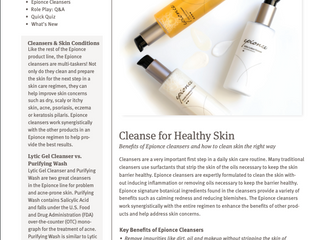 Cleanse for Healthy Skin