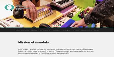 Page d'accueil - Site FAMEQ