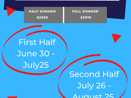 Dates announced for summer 2022!