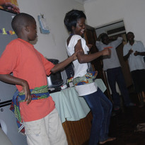 Dancing at Funsani Home