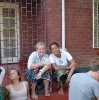 Volunteers outside Funsani Home