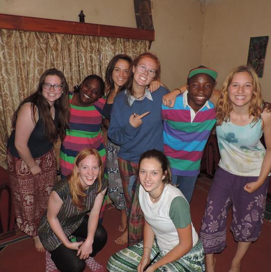 Volunteers at Funsani Home